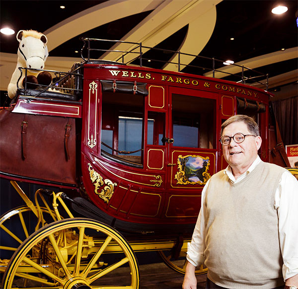 Bob with the Wells Fargo stagecoach