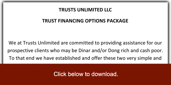 Trusts Unlimited Financing Package Information